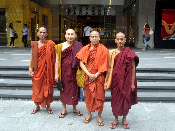 monks on orchard