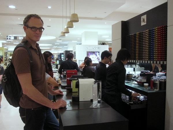 nespresso tasting station